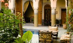 Restful Garden in the Riad Jaouhara