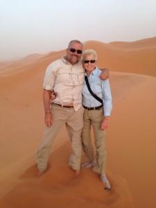 top of dunes